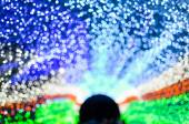New year and christmas fastival LED light cave background . Eleg — Stock Photo