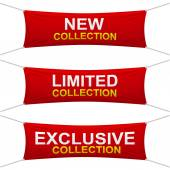 Collection banners — Stock Vector