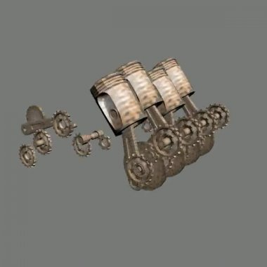 Engine gear steampunk animation — Stock Video