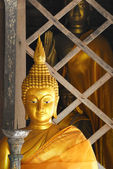 Gold Buddhist in lampang luang ,Thailand — Stok fotoğraf