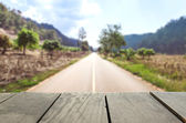 Vintage straight road for background — Stockfoto