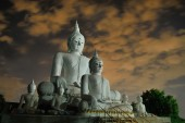 Beautiful concrete buddha in Chiangmai Thailand — Photo