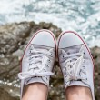 Sneakers at sea — Stock Photo #52587715