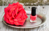 Spa at home and nailpolish — Stock Photo