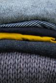 Striped wool textures in autmn colors — Zdjęcie stockowe
