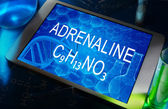 The chemical formula of adrenaline — Stock Photo