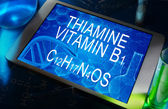 Tiamina o vitamina B1 — Foto de Stock