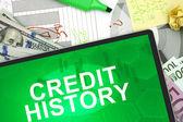 Credit history — Stock Photo