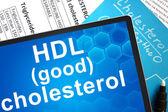 HDL (good) cholesterol. — Stock Photo