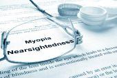 Paper with words  myopia (nearsightedness) — Stock Photo