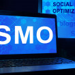 Computer with words SMO (Social Media Optimization). — Stock Photo #66415549