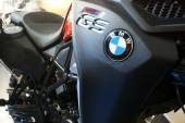Details of a BMW GS motorcycle with logo. Kiyv, Ukraine - March 15, 2015 — Stock Photo