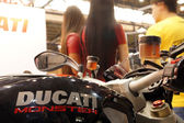 Fuel tank with the logo of Ducati Monster motorcycle. Kiyv, Ukraine - March 15, 2015 — Stock Photo