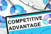 Competitive Advantage On tablet with graphs. — Stock Photo