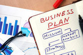 Notepad with words business plan   concept — Stock Photo