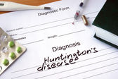 Diagnostic form with Diagnosis Huntington disease. — Stock Photo