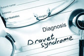 Diagnosis Dravet syndrome and tablets. — Стоковое фото