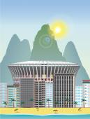 Rio landmark — Stockvektor