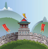 Great Wall of China — Stock Vector