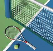 Tennis court — Stock Vector