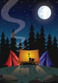 キャンプ — ストックベクタ