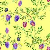 Wildflowers seamless pattern — Стоковое фото