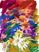 Field flowers bouquet — Stock Photo