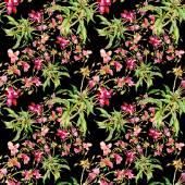 Wzór z kwiatów i liści — Zdjęcie stockowe