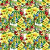 Watercolor field flowers bouquet — Stock Photo