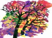 Herbst baum — Stockfoto