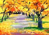 Herbst-park — Stockfoto