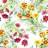 Wild flowers pattern — Stock Photo
