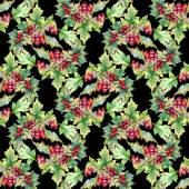 Hawthorn branch seamless pattern — Foto de Stock