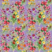 Flores silvestres de patrones sin fisuras — Foto de Stock