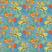 Wild flowers seamless pattern — Stock Photo