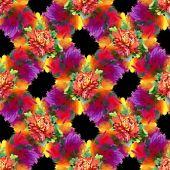 ακουαρέλα κόκκινα λουλούδια υφή — Φωτογραφία Αρχείου