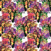 Autumn trees  texture — Stock Photo