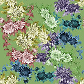 Watercolor floral seamless pattern — Stock Photo