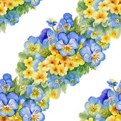 Pattern with pansy  and  forget-me-flowers — Foto de Stock