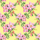 Watercolor  flowers texture illustration — Foto de Stock