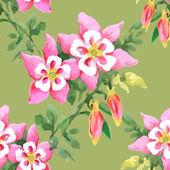 Aquarela floral padrão sem emenda — Foto Stock