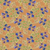水彩花卉无缝图案 — 图库照片