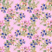 Aquarell Blumen Textur Abbildung — Stockfoto