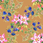 Watercolor floral seamless pattern — Stockfoto