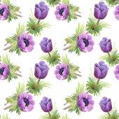 Padrão sem emenda floral com flores — Foto Stock
