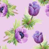 Akvarell blommor textur illustration — Stockfoto