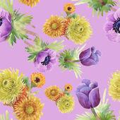 Watercolor  flowers texture illustration — Stock Photo