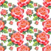 Red roses seamless pattern. — Stock Photo