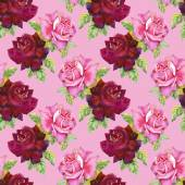 Watercolor roses seamless pattern. — Stock Photo
