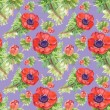 Colorful floral tulips seamless pattern — Stock Photo #57113703